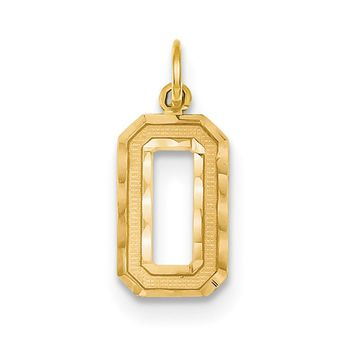 14K Yellow Gold, Varsity Collection, Medium D/C Pendant Number 0-99