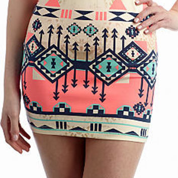 Freeway Apparel Aztec Print Skirt - Belk.com