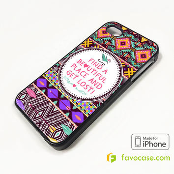 3-PIECE TRIBAL PATTERN 2 iPhone 4/4S 5/5S 5C 6 6 Plus Case Cover