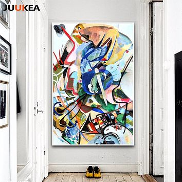 Canvas Art Print Painting Poster, Wassily Kandinsky Geometric Abstract Art, Wall Pictures For Living Room, Home Cuadros Decor