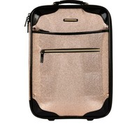 Pink glitter suitcase