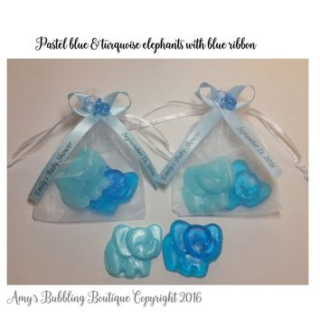 Elephant Baby Shower Favor - Elephant Soaps for Circus, Jungle or Zoo Themed Baby Shower or Birthday Party Favor - Pack of 10