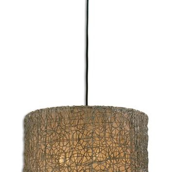 Uttermost Knotted Rattan Pendant Light