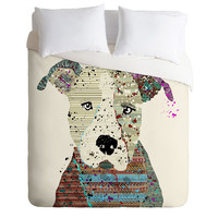 Brian Buckley Pit Bull Graffiti Duvet Cover