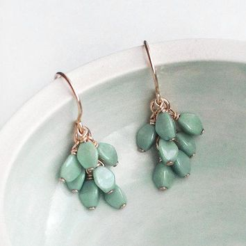 Gretel Earrings - Teal