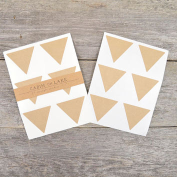 Large Kraft Triangle Stickers - 24 pc
