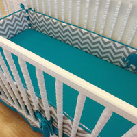 Baby Bedding-Made to Order-3 pc Modern Elephant Crib Bedding Set