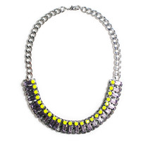 Neon and Crystal Statement Necklace, Lucky Magazine January 2013