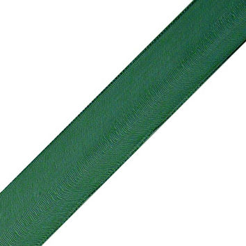 Sheer Wired Glossy Ribbon, 1-1/2-inch, 25-yard, Hunter Green