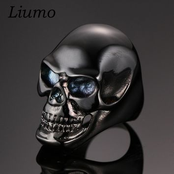 Black Stainless Steel Gothic Skull Ring