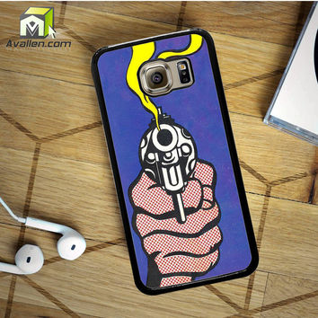 Roy Lichtenstein - Gun in America Samsung Galaxy S6 case by Avallen