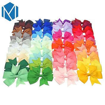 40 pcs/set Kids Bow Tie BB Hairpin Girl Headwear Lovely Ribbon Bowknot Hair Clip Hair Accessories for Princess Children Barrette