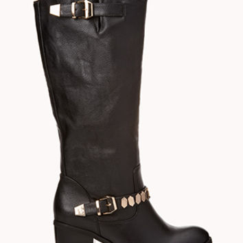On The Edge Faux Leather Boots