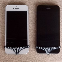 Lovely Zebra Black and White Underwear Swimming Pants Decoration for iphone