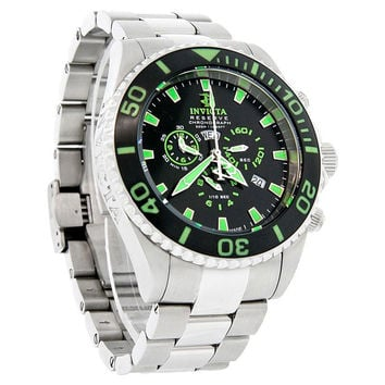 Invicta 1021 Men's Swiss Made Reserve Diver Black Dial Chronograph Watch