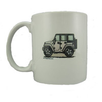 """All Things Jeep - JK Wrangler 4 Door """"Where's Your Playground"""" Coffee Mug by All Things Jeep"""