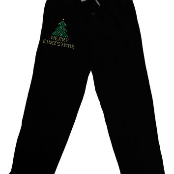 Merry Christmas Sparkles Relaxed Adult Lounge Pants