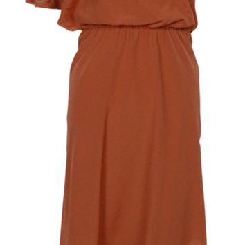 Jessica Simpson Women's Beaded Asymmetrical Blouson Dress