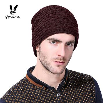 VBIGER Men Warm Knitted Hat Winter Slouchy Beanie Skullies Slouch Cap Hat with Lining