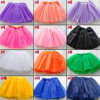 Kids Adult Womens Girls Princess Tulle Tutu Skirt Puff Skirt Bubble Petticoat