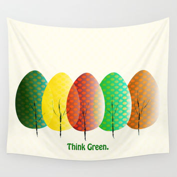 Love Nature. Love Trees Wall Tapestry by Miss L In Art