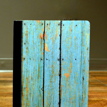 Teal Weathered Wood - Notebook/Journal/Composition Book
