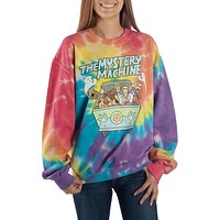 Tie Dye Scooby Doo Long Sleeve Shirt Mystery Machine Shirt Scooby Doo Shirt
