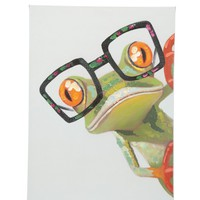 Peeking Frog Wall Decor Oil Painting Canvas