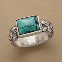 CARVED TURQUOISE RING         -                Artisan         -                Rings         -                Jewelry         -                Categories                       | Robert Redford's Sundance Catalog