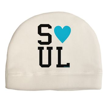 Matching Soulmate Design - Soul - Blue Child Fleece Beanie Cap Hat by TooLoud