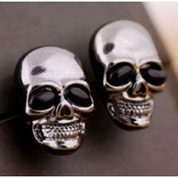 Gunmetal Skull Earings - Online Fashion Accessories - With Love Kirsten