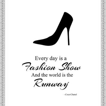 Coco Chanel Quote Printable - Quote - Home Decor - Prints - Fashion