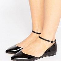 Faith Ali Asymmetric Pointed Flat Shoes at asos.com