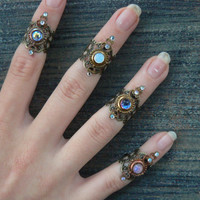 knuckle ring CHOOSE ONE armor ring SALE 14.50 nail ring claw ring finger tip ring vampire goth victorian moon goddess pagan boho gypsy