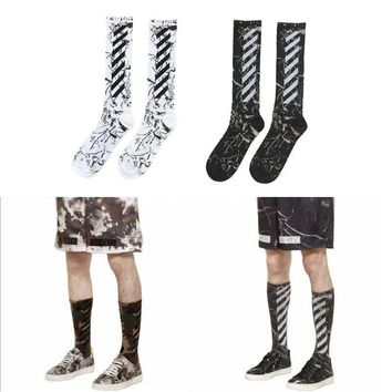 ca auguau Off-White C/O Virgil Abloh Stripe Socks