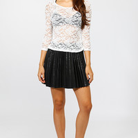 Lace and Bow Shear Top