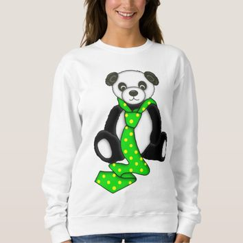 Cute Panda Bear Graphic Sweatshirt