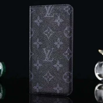 Louis Vuitton LV Leather Fashion iPhone Phone Cover Case For iphone 6 6s 6plus 6s-plus 7 7plus 8 8plus X-3