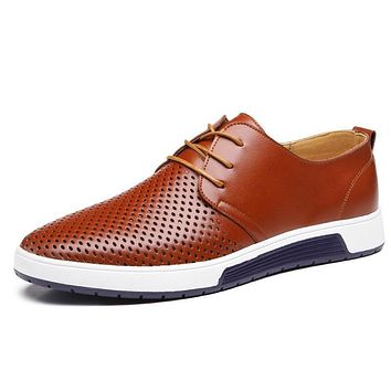 Luxury Style Breathing Holes Oxford Shoes