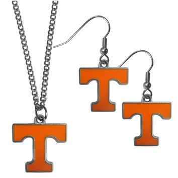 Tennessee Volunteers Dangle Earrings and Chain Necklace Set