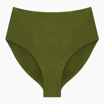 Bound High Waisted Bikini Bottom - Eden Green