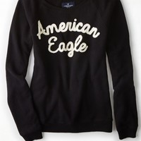 AEO 's Applique Crew Sweatshirt