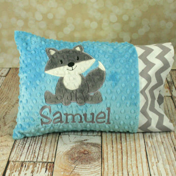 Personalized Fox Toddler or Travel Pillow - You Choose Fabrics