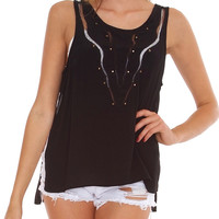 Love Eruption Tank Top - Black