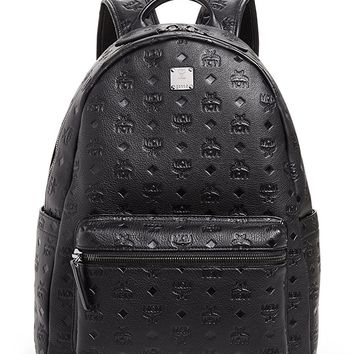 MCM Men's Ottomar Monogrammed Leather Medium Backpack