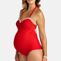 Women's Pez D'Or 'Montego Bay' Ruffle One-Piece Maternity Swimsuit
