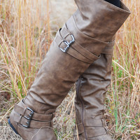 Finish The Rest Boots: Taupe