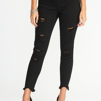Distressed Rockstar Jeggings for Women |old-navy