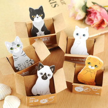 Mini Cute Cartoon Kawaii Cats and Dogs Memo pad Box Sticky Notes for Kids Gifts Post It Note Office Supplies Free shipping 131