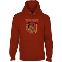 Tuskegee Golden Tigers Distressed Primary Pullover Hoodie - Crimson